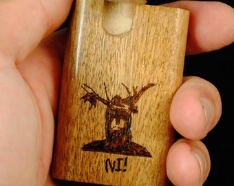 Dugout - Custom Woodburned Knights who say Ni