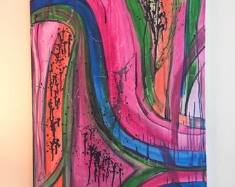 CHAOS original one of a kind abstract acrylic painting art