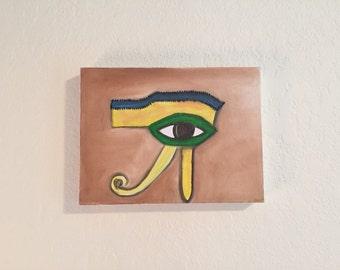 "SALE ""Eye of Horus"" Egyptian / third eye / chakra oil painting art"