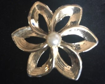 Goldtone Pin with Pearl