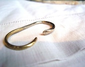 Unique Brass Double Finger Ring. Silver and Gold. Snake Ring for Men and Women. Oscar Double Finger Ring