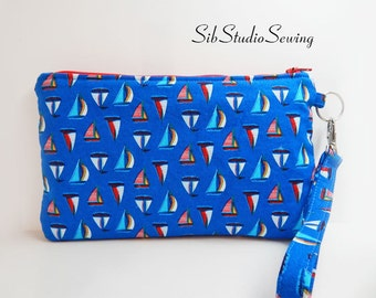 """Sailboats Smartphone Clutch, 9 x 5.5 inches, Fits iPhone 7  & 6 Plus, Smartphones and Tablets up to 7"""" Length, Interior Pockets, Key Ring"""