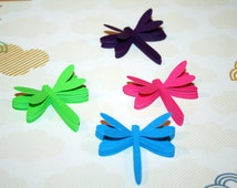 Dragonfly Die Cuts, Dragonflies, Dragonfly Cut Outs, Paper Dragonflies, Summer Crafts, Dragonfly Decoration, Dragonfly Scrapbook