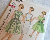 Simplicity Pattern 4468 One Piece Dress 14 Bust 34 Uncut 1960s
