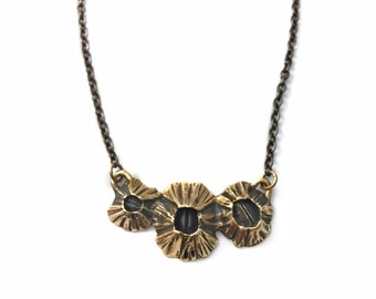 Tri-Barnacle Bar Necklace