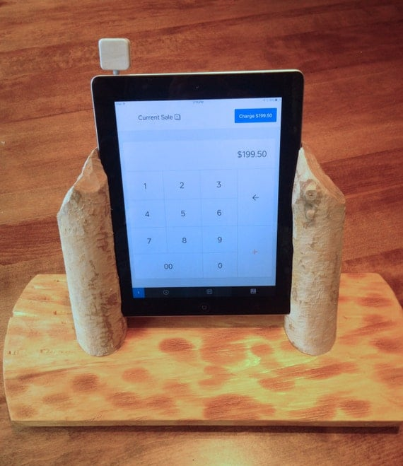 SALE! - Rustic Beaver Wood Swivel Base Stand for Square Retail POS or Home  Applications