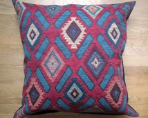 Navajo Floor Pillow Cover, 26x26 Marsala Pillow Cover, Large Decorative Pillow Cover