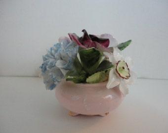 Vintage Bone China Flower Bouquet- 1960s - Adderly China - Collectible flower - Cottage Wedding