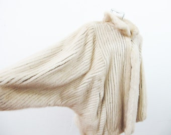 1970s SAGA FURS Dolman Sleeve Mink Fur Coat