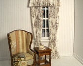Victorian Style drapery, made-to-order for the 1:12 scale dollhouse