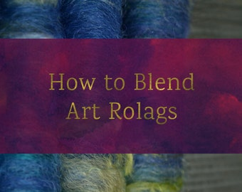 How To Blend Art Rolags - Blending Board Tutorial - Textured Art Rolag Spinning Fiber Tutorial