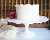 Sale Milk Glass Cake Stand Vintage Indiana Glass Tear Drop Style For Cupcakes Vintage Wedding Showers Shabby Chic Decor