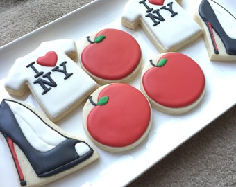 I heart new york cookies