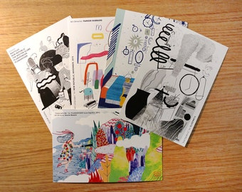 4 Postcard Set