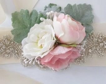 Floral Wrist Corsage / Flower Wrist Cuff / Made to Order