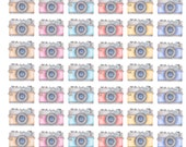 Watercolor Camera Stickers