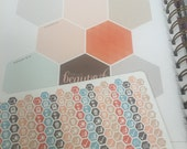 "Daily Chore Hexagons 1/4"" (Neopolitan) for Planner - Planner Stickers - inkWELL Press"