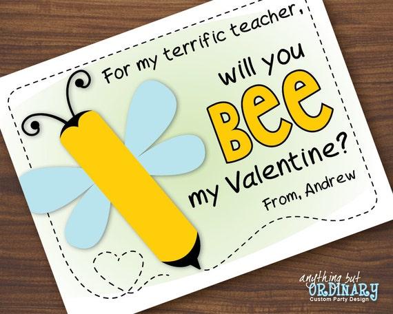 Lip Balm Valentine Printable BEE My Valentine Cards INSTANT