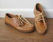Vintage LL Bean Shoes - Womens LL Bean Boat Shoe - Deck Shoe 7.5