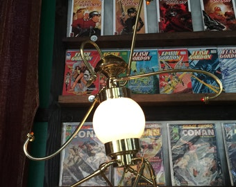 Industrial Brass Desk Lamp- Steampunk Chic - Dargon Scout Droid v1.1