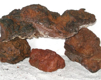 Large Red Lava Rocks Porous Plant Friendly and All Water Safe. BX#RET4