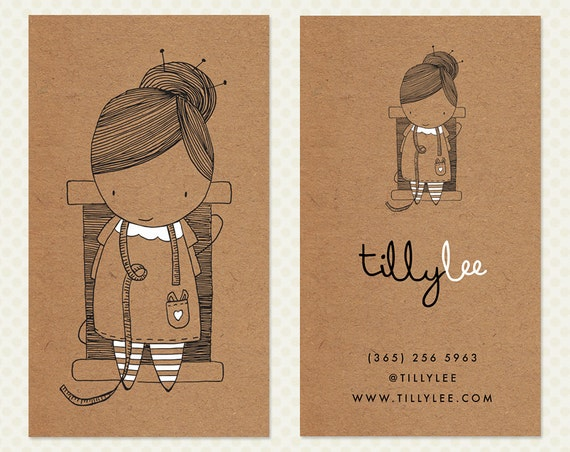 Character Design Business Card : Seamstress business card design sewing