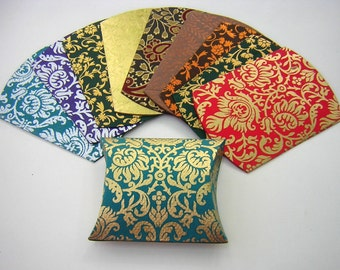 10 Decorative Gift Boxes for Jewelry - Decorative Card Stock Paper Pillow Boxes for Jewelry or Wedding