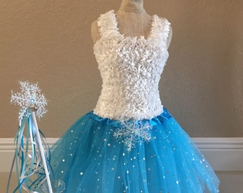 Frozen Tutu, Elsa Costume, Snowflake Tutu, Elsa Dress, Frozen Tutu Dress, Elsa Frozen Dress, Frozen Party Favors, ELSA tutu Dress, tutu