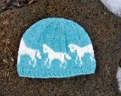 Icelandic Wool Horse Hat - Handmade with 100% Pure Icelandic Light Wool