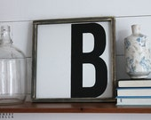 Capital Letter Monogram Wood Sign, Housewarming Gift, Contemporary, Country Decor, Farmhouse Decor