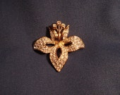 Swarovski Orchid or other Flower Pin or Brooch