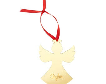 Monogrammed Ornament, Angel Ornament, Personalized Ornament, Angel Gift, Personalized Christmas, Christmas Ornament, Remembrance Gift