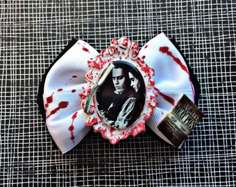 Sweeney Todd inspired hair bow