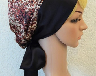 Satin hair bonnet, bad hair day headcovering, silky head snood, satin tichel, elegant headscarf, satin head bandana