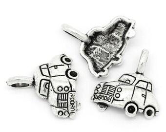 5 Pieces Antique Silver Car Charms 20.5x20mm