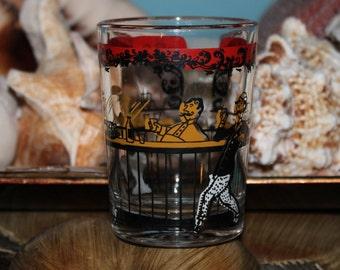 Signed Hazel Atlas Gay Nineties Whiskey Glass