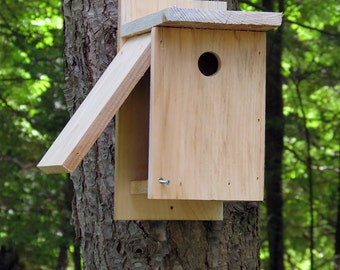 RUSTIC BIRD HOUSE For Chicadee or other similar birds.