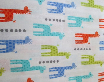Quilting Weight Cotton Fabric Mini Giraffes by Michael Miller in multi colors 1 yard