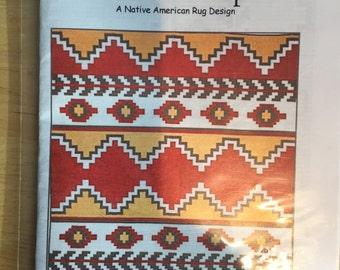"CLASSIC SERAPE - a native american southwestern quilt pattern by J. Michelle Watts - 84"" x 98"" STUNNING!"