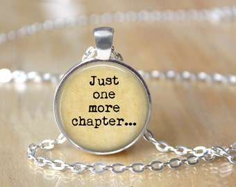 Book Lover Necklace - Book Necklace - Book Jewelry - Book Lover Jewelry - Librarian Jewelry - Gift for Reader - Graduation Gift - Reader L7