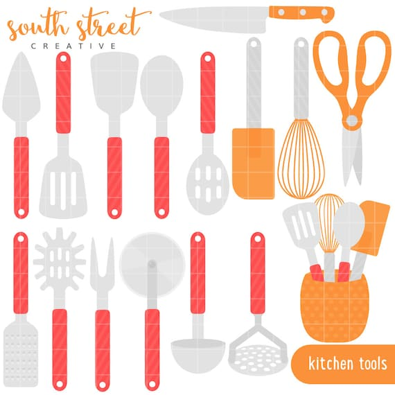 Kitchen Utensils Cooking Baking Cute By Southstreetcreative