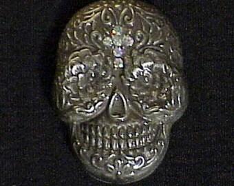 Sugar Skull Conchos (2) w/Crystal/AB Cross