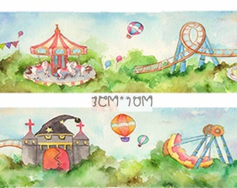 1 Roll of Limited Edition Washi Tape: Carnival Playground
