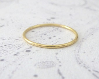18ct Red Gold Band Ring - Skinny
