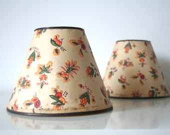 SUMMER SALE 30% OFF!!  1950s vintage. Lamp shades. Pair. from Germany