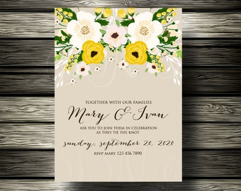 "Only 5.00 USD  Wedding invitation, ""Bridal shower announcement"", ""Save the Date card"", ""Wedding name card"", ""Thank you card"","