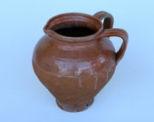 RESERVED EMILY Italian terracotta double handled jug