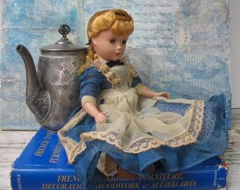 """Madame Alexander 14"""" Meg doll, 1950's hard plastic Little Women, Meg character"""