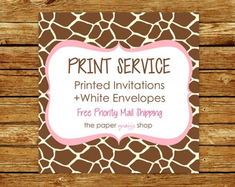 Print Services | Invitation Printing Service | Cardstock Prints | Invite Printing
