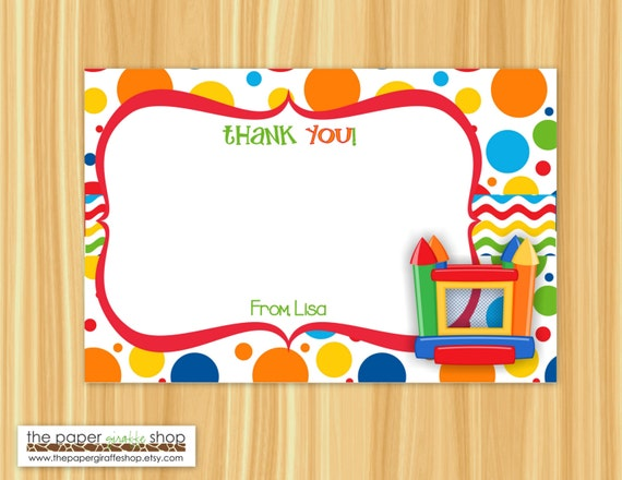 Thank You House: Bounce House Thank You Card Bounce House Thank You Bounce